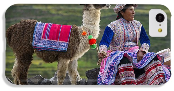 Llama iPhone 5c Case - Indigena by Christian Heeb