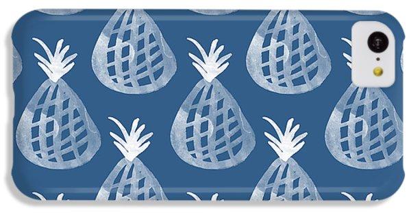 Orange iPhone 5c Case - Indigo Pineapple Party by Linda Woods