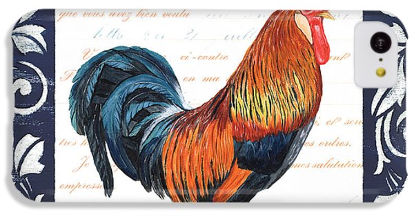 Rooster iPhone 5c Case - Indigo Rooster 1 by Debbie DeWitt