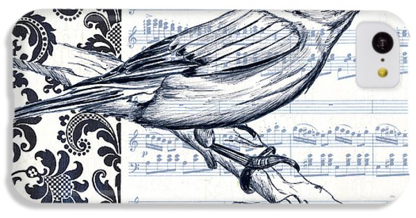 Bluebird iPhone 5c Case - Indigo Vintage Songbird 1 by Debbie DeWitt