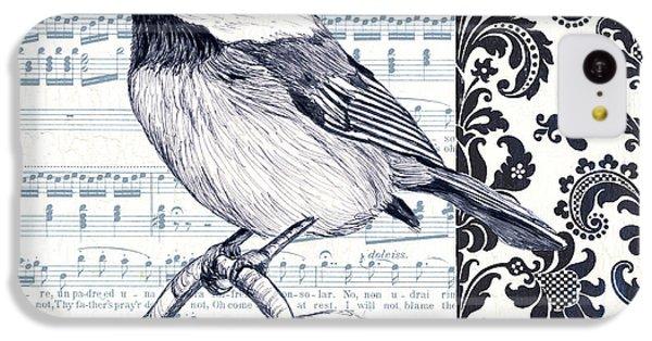 Indigo Vintage Songbird 2 IPhone 5c Case by Debbie DeWitt