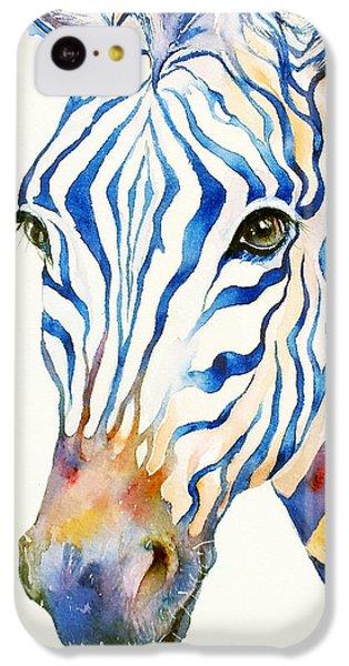 Intense Blue Zebra IPhone 5c Case by Arti Chauhan