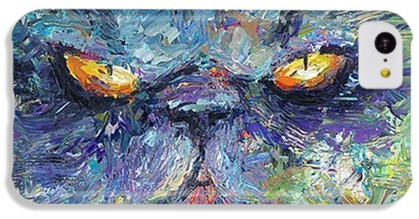 Intense Palette Knife  Persian Cat IPhone 5c Case