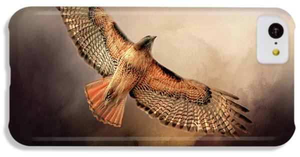 Buzzard iPhone 5c Case - Into The Light by Donna Kennedy