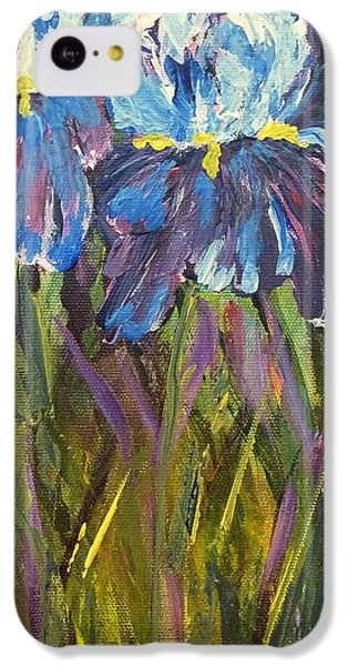 Iris Floral Garden IPhone 5c Case by Claire Bull