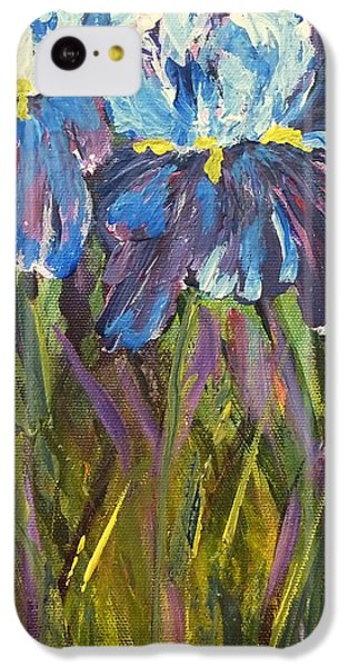 IPhone 5c Case featuring the painting Iris Floral Garden by Claire Bull