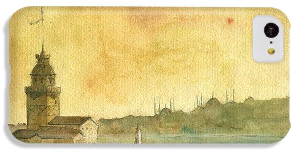 Turkey iPhone 5c Case - Istanbul Maiden Tower by Juan Bosco