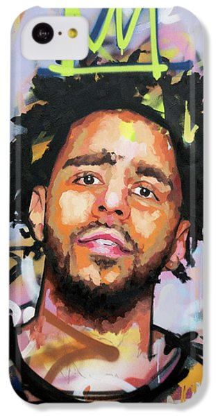J Cole IPhone 5c Case by Richard Day