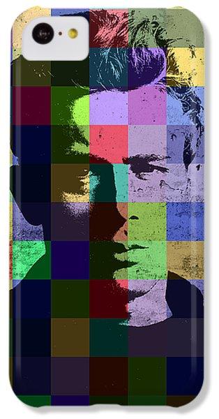 James Dean Actor Hollywood Pop Art Patchwork Portrait Pop Of Color IPhone 5c Case by Design Turnpike