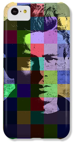 James Dean Actor Hollywood Pop Art Patchwork Portrait Pop Of Color IPhone 5c Case by Design Turnpike
