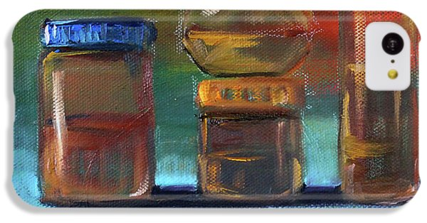 IPhone 5c Case featuring the painting Jars Still Life Painting by Nancy Merkle