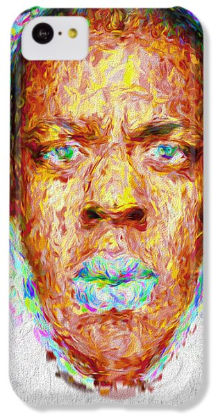 Jay Z Painted Digitally 2 IPhone 5c Case by David Haskett