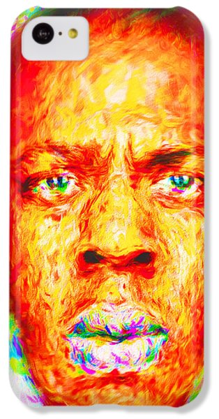 Jay-z Shawn Carter Digitally Painted IPhone 5c Case by David Haskett