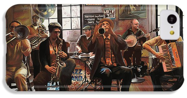 Drum iPhone 5c Case - Jazz A 7 by Guido Borelli