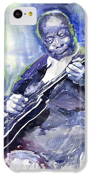 Jazz iPhone 5c Case - Jazz B B King 02 by Yuriy Shevchuk