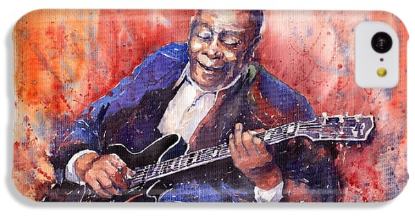 Guitar iPhone 5c Case - Jazz B B King 06 A by Yuriy Shevchuk