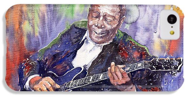Guitar iPhone 5c Case - Jazz B B King 06 by Yuriy Shevchuk