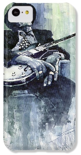 Jazz iPhone 5c Case - Jazz Bluesman John Lee Hooker 04 by Yuriy Shevchuk
