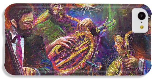 Jazz iPhone 5c Case - Jazz Jazzband Trio by Yuriy Shevchuk