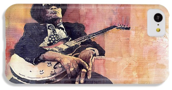 Jazz iPhone 5c Case - Jazz John Lee Hooker by Yuriy Shevchuk