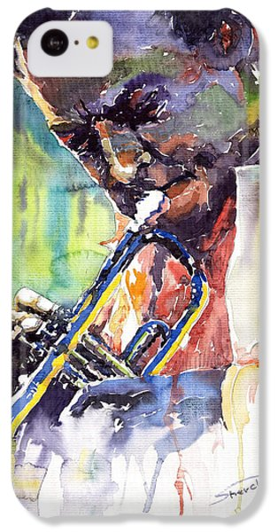 Jazz iPhone 5c Case - Jazz Miles Davis 9 Blue by Yuriy Shevchuk