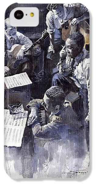 Jazz iPhone 5c Case - Jazz Parker Tristano Bauer Safransky Rca Studio Ny 1949 by Yuriy Shevchuk