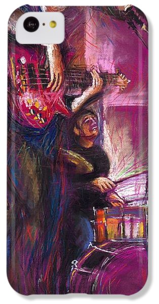 Jazz iPhone 5c Case - Jazz Purple Duet by Yuriy Shevchuk