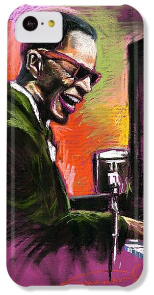 Jazz iPhone 5c Case - Jazz. Ray Charles.2. by Yuriy Shevchuk