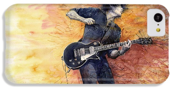 Jazz iPhone 5c Case - Jazz Rock Guitarist Stone Temple Pilots by Yuriy Shevchuk