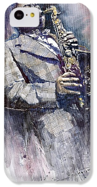 Jazz iPhone 5c Case - Jazz Saxophonist Charlie Parker by Yuriy Shevchuk