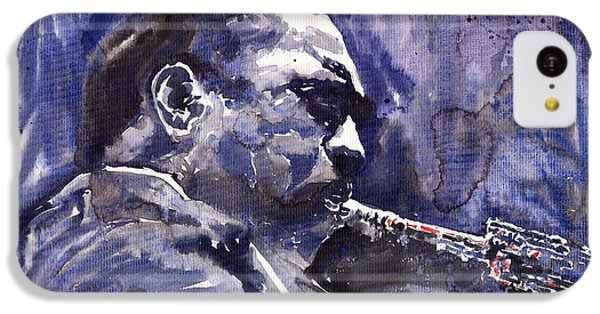Saxophone iPhone 5c Case - Jazz Saxophonist John Coltrane 01 by Yuriy Shevchuk