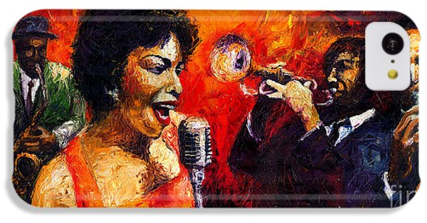 Jazz iPhone 5c Case - Jazz Song by Yuriy Shevchuk