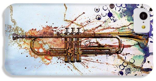 Trumpet iPhone 5c Case - Jazz Trumpet by David Ridley