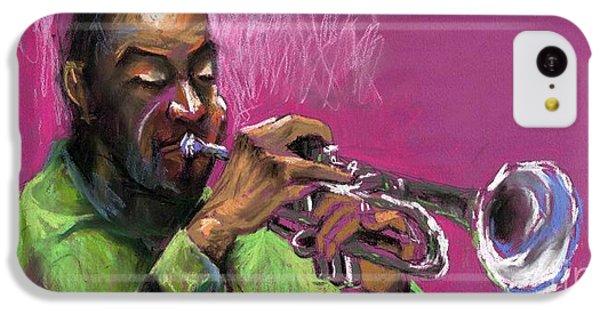 Jazz Trumpeter IPhone 5c Case by Yuriy  Shevchuk