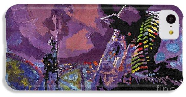 Trumpet iPhone 5c Case - Jazz.miles Davis.4. by Yuriy Shevchuk