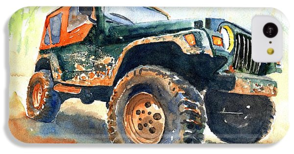 Car iPhone 5c Case - Jeep Wrangler Watercolor by Carlin Blahnik CarlinArtWatercolor