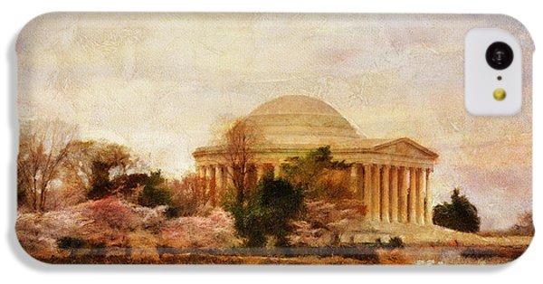 Jefferson Memorial iPhone 5c Case - Jefferson Memorial Just Past Dawn by Lois Bryan