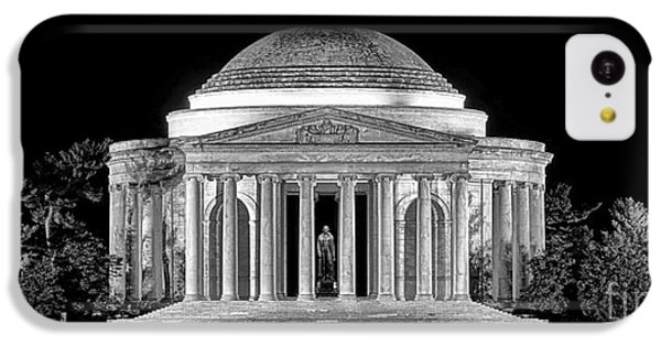 Jefferson Memorial iPhone 5c Case - Jefferson Memorial Lonely Night by Olivier Le Queinec