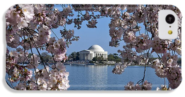 Jefferson Memorial On The Tidal Basin Ds051 IPhone 5c Case by Gerry Gantt