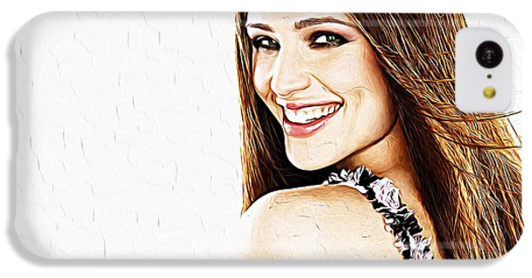 Scarlett Johansson iPhone 5c Case - Jennifer Garner by Queso Espinosa