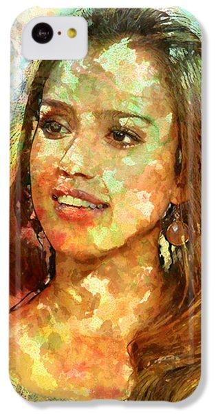 Jessica Alba IPhone 5c Case by Elena Kosvincheva