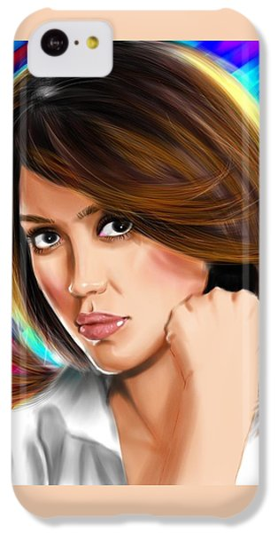 Jessica Alba IPhone 5c Case by Isaac Martinez