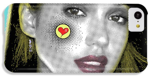 Jessica Alba Pop Art, Portrait, Contemporary Art On Canvas, Famous Celebrities IPhone 5c Case