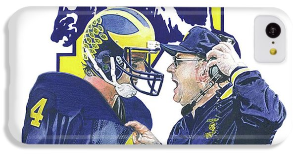 University Of Michigan iPhone 5c Case - Jim Harbaugh And Bo Schembechler by Chris Brown