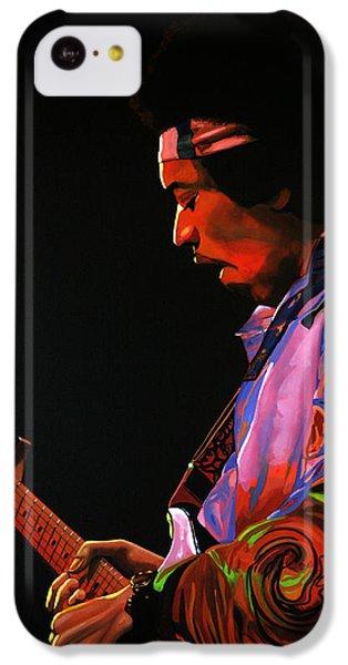 Knight iPhone 5c Case - Jimi Hendrix 4 by Paul Meijering
