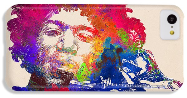 Jimi Hendrix Print IPhone 5c Case