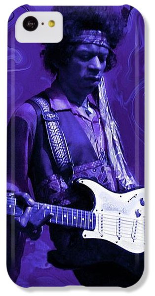 Guitar iPhone 5c Case - Jimi Hendrix Purple Haze by David Dehner