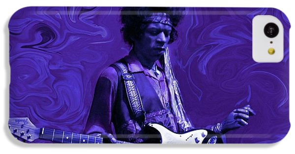 Rock And Roll iPhone 5c Case - Jimi Hendrix Purple Haze by David Dehner