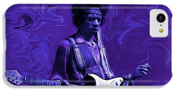 Guitar iPhone 5c Case - Jimi Hendrix Purple Haze by David Dehner