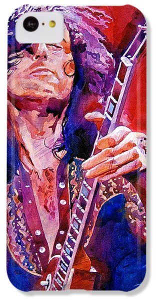 Musicians iPhone 5c Case - Jimmy Page by David Lloyd Glover